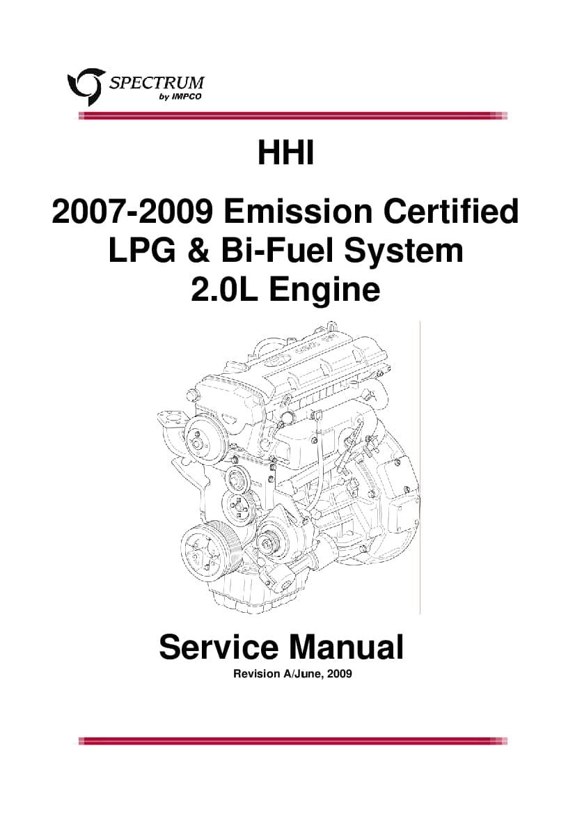 Hyundai LPG & BI-FUEL IMPCO S engine Workshop Repair