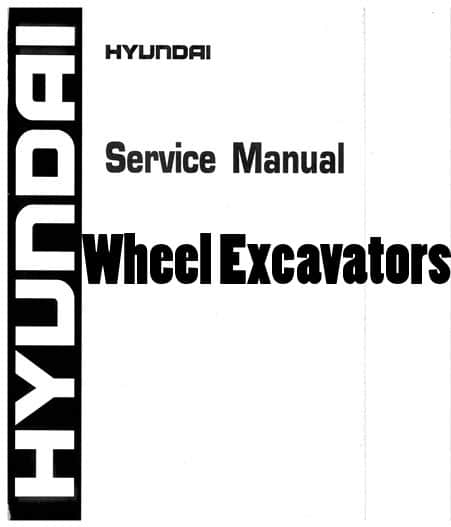 Hyundai R140W-9 Robex Wheel Excavators Workshop Repair