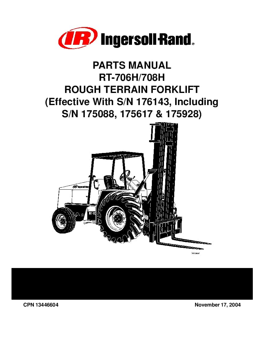 Ingersoll Rand RT-700 H Rough Terrain Fork Lift effective
