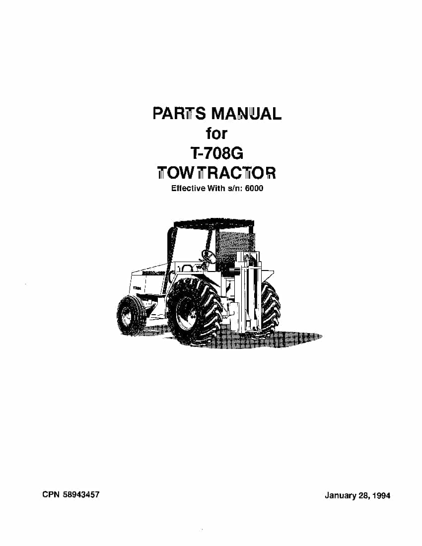 Ingersoll Rand T-708 G Tow Tractor Parts Manual PDF