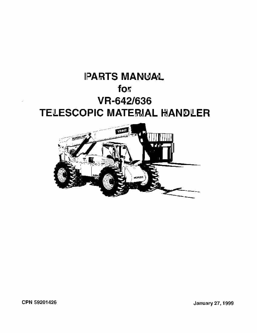 Ingersoll Rand VR-642 Telehandler Parts Manual PDF