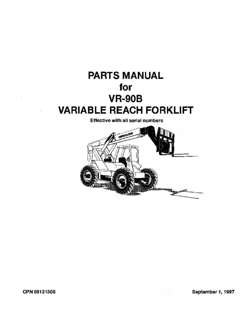 Ingersoll Rand VR-90B Telehandler Parts Manual PDF