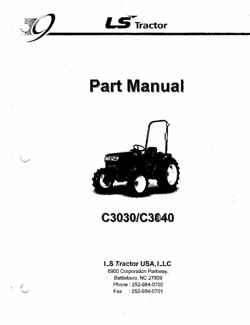 Ls Tractors Series C3030-C3040 Parts Manual PDF Download