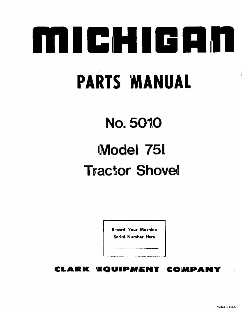 MICHIGAN 75 I 5010 WHEEL LOADER Parts Manual PDF Download