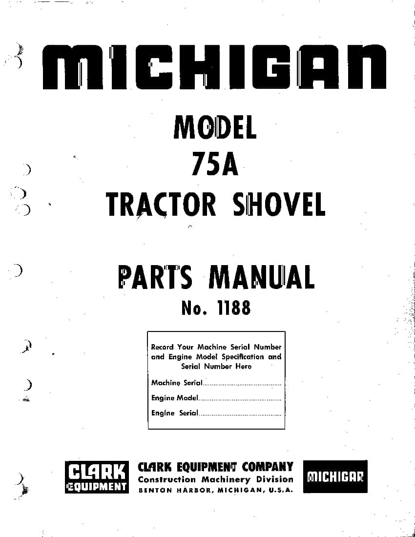 MICHIGAN 75A 1188 WHEEL LOADER Parts Manual PDF Download
