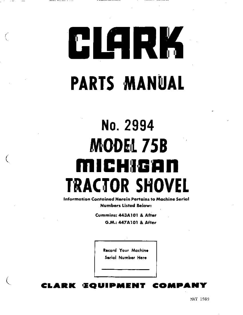 MICHIGAN 75B 2994 WHEEL LOADER Parts Manual PDF Download