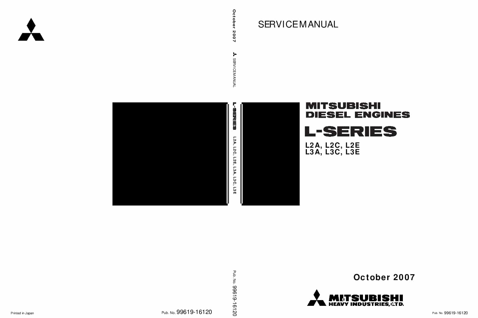 MITSUBISHI L-SERIES Workshop Repair Service Manual PDF