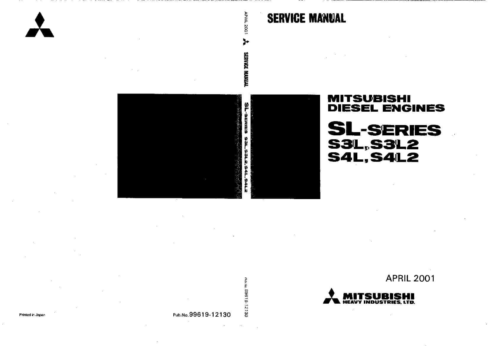 MITSUBISHI SL-SERIES Workshop Repair Service Manual PDF