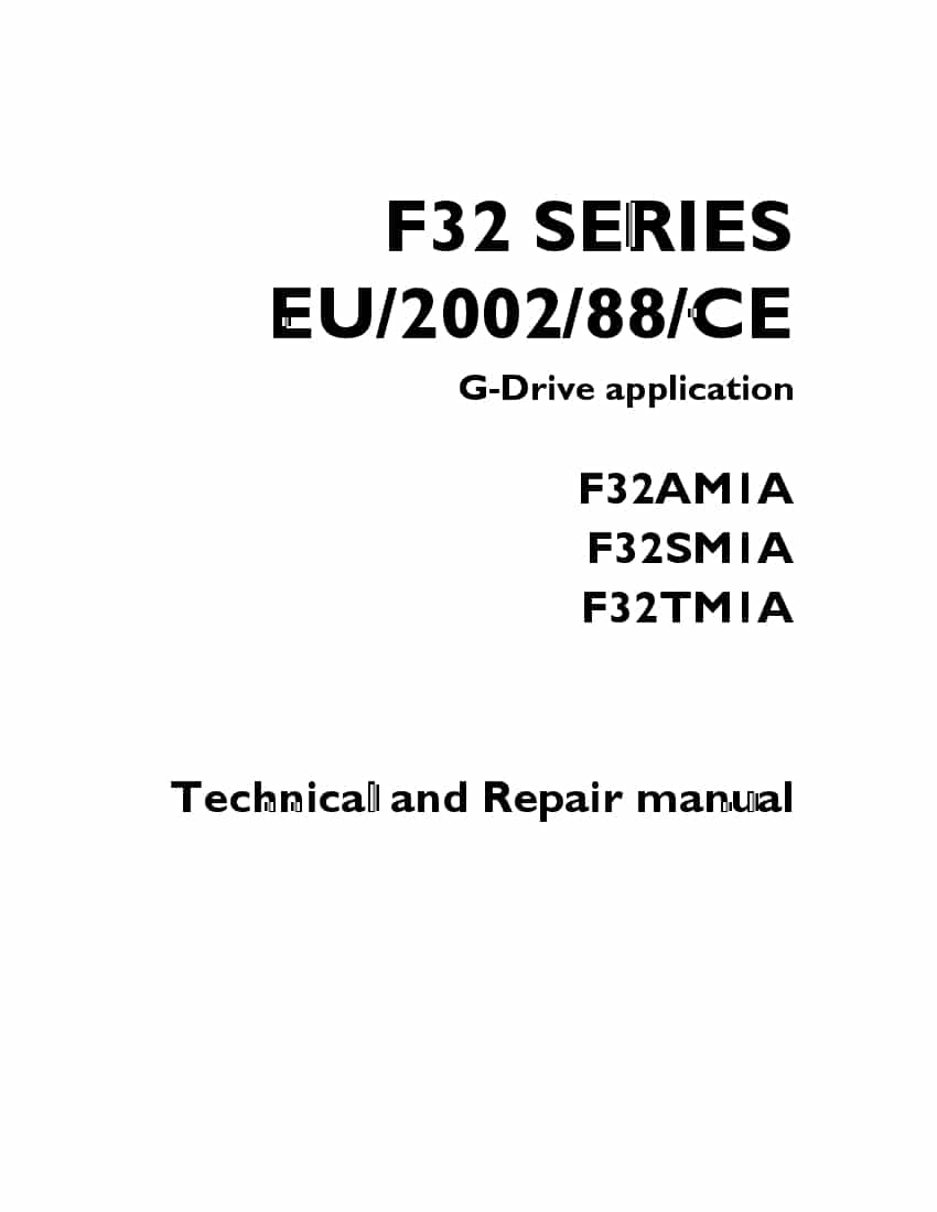 NANI F32 SERIES EU.2002.88.CE G-Drive application F32AM1A