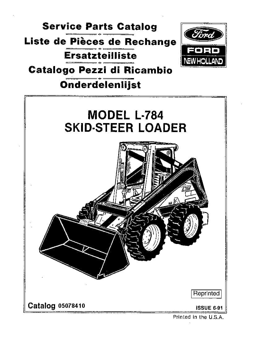 NEW HOLLAND L784 SKID STEER Part Manual PDF Download