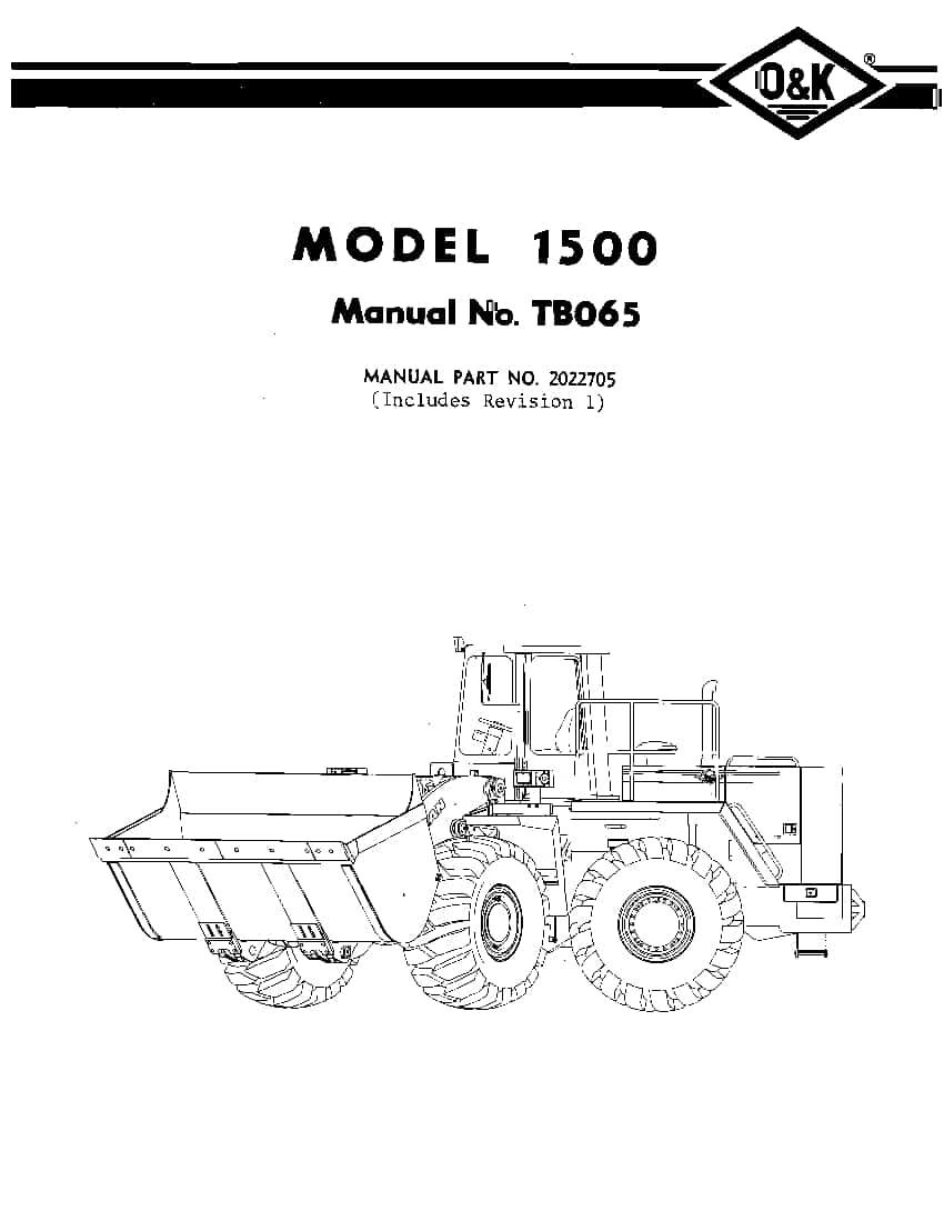 OK TROJAN 1500-TB065 WHEEL LOADER Parts Manual PDF