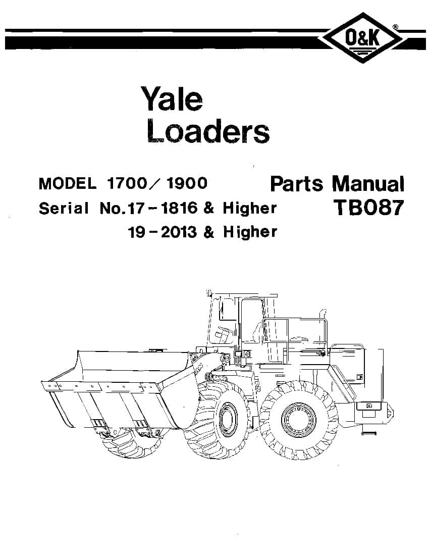 OK TROJAN 1700-1900-TB087 WHEEL LOADER Parts Manual PDF