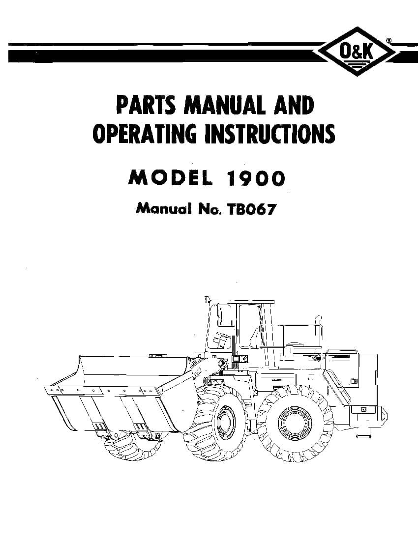 OK TROJAN 1900-TB067 WHEEL LOADER Parts Manual PDF