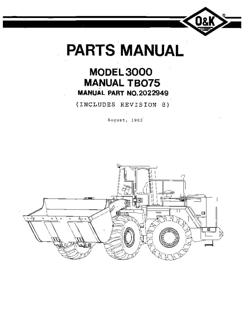OK TROJAN 3000-TB075 WHEEL LOADER Parts Manual PDF