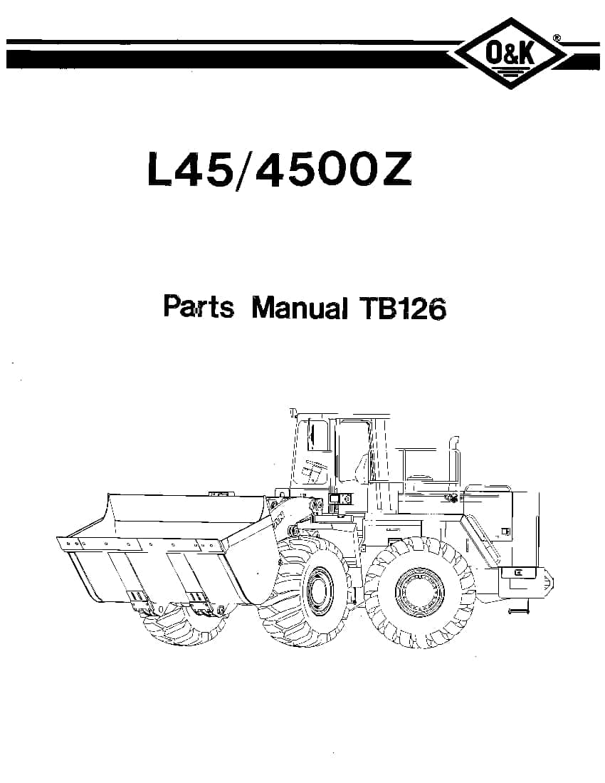 OK TROJAN L45-4500Z-TB126 WHEEL LOADER Parts Manual PDF
