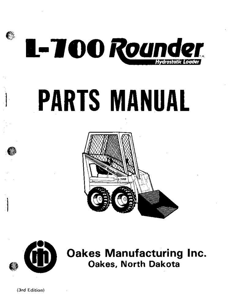 PRIME MOVER SKID STEER L-700 Parts Manual PDF Download