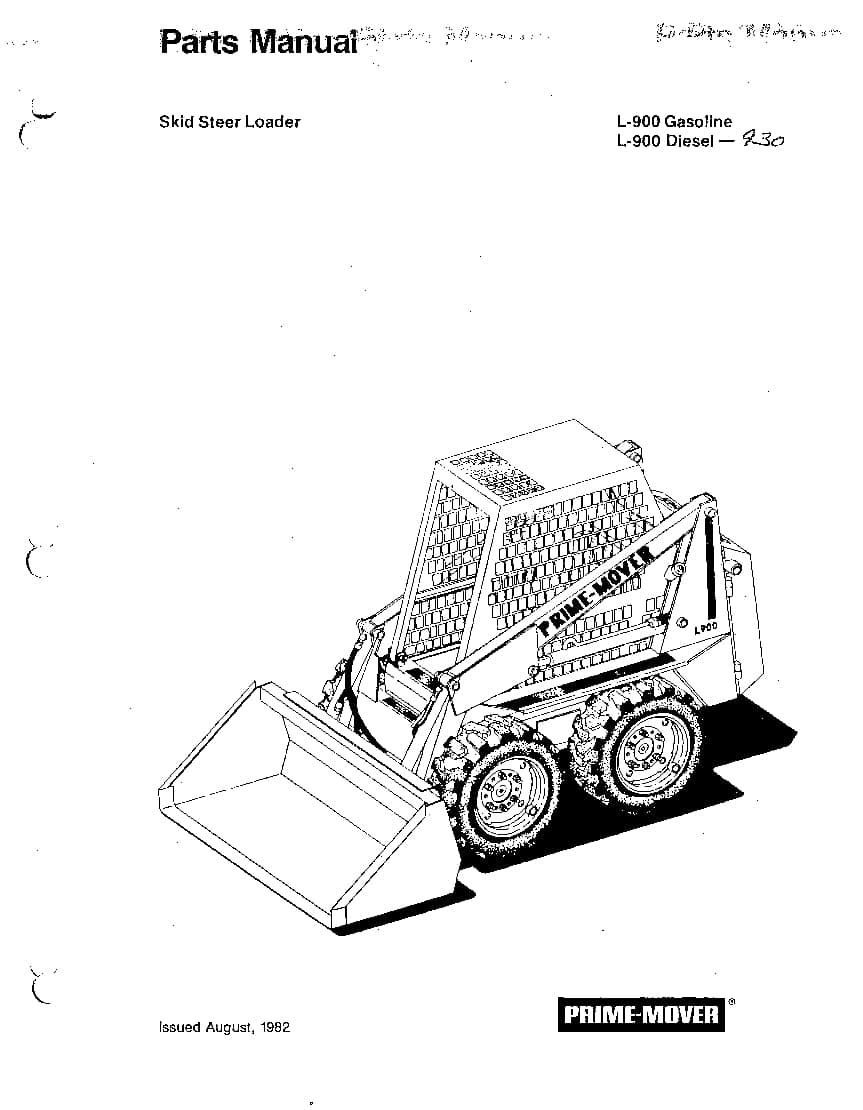 PRIME MOVER SKID STEER L900,930 Parts Manual PDF Download