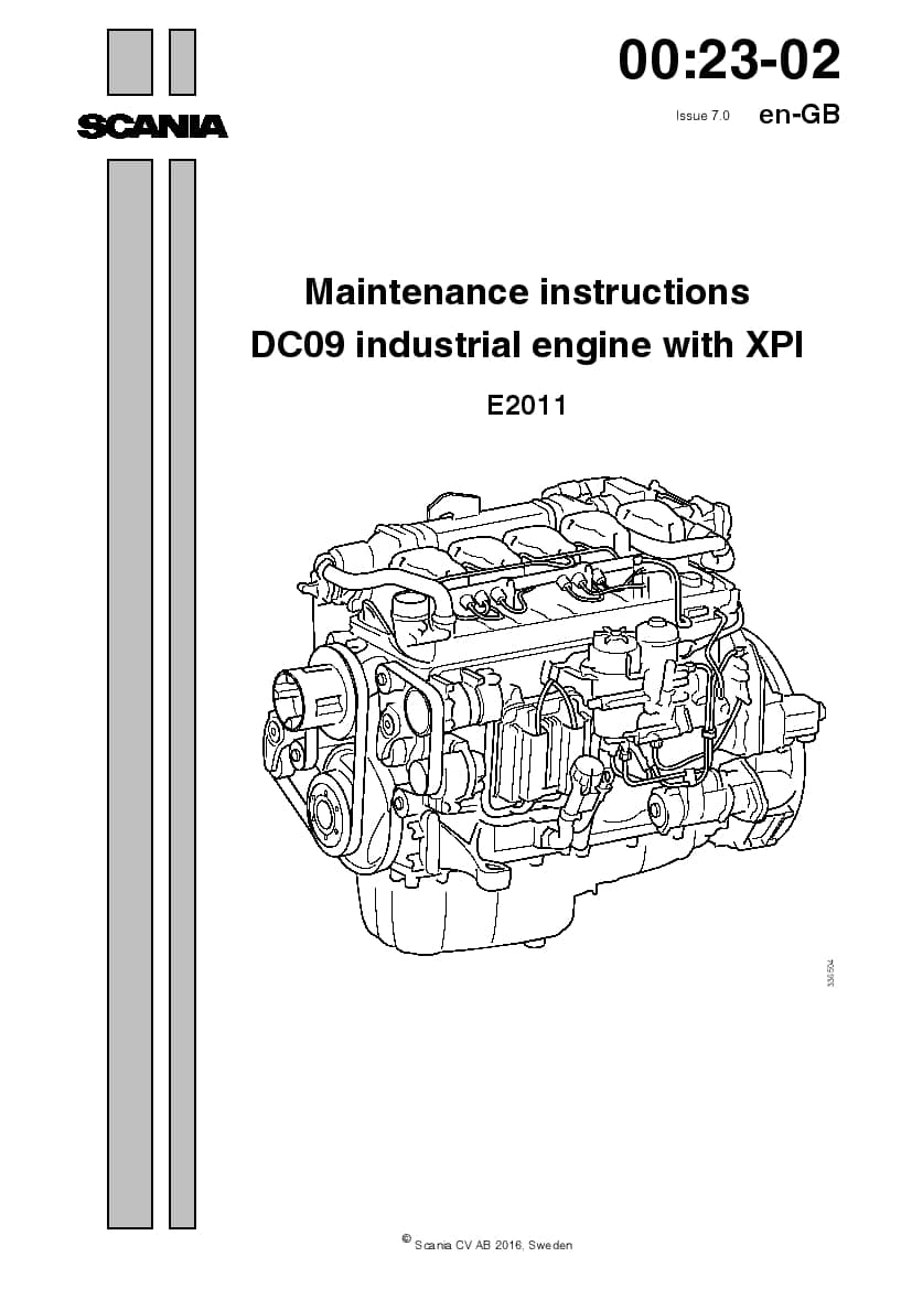 SCANIA DC09 XPI Maintenance manual manual PDF Download