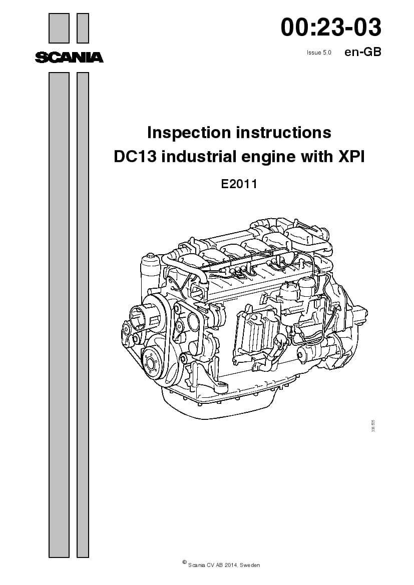SCANIA DC13 XPI Inspection manual manual PDF Download
