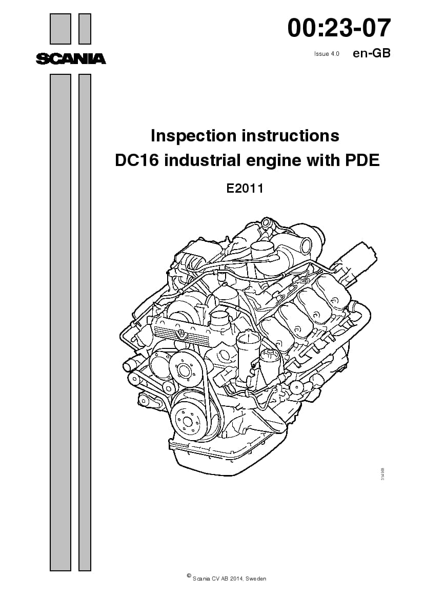SCANIA DC16 XPI Inspection manual manual PDF Download