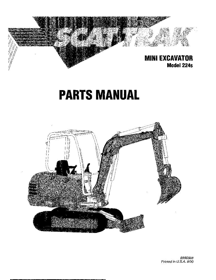 SCAT TRAK 224s 8990398 MINI EXCAVATOR Parts Manual PDF