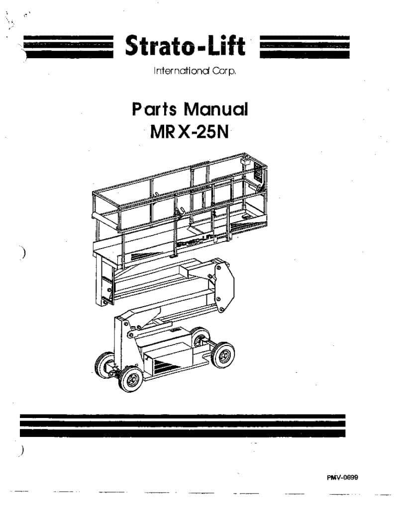 STRATO MR X-25N 106 LIFT Parts Manual PDF Download