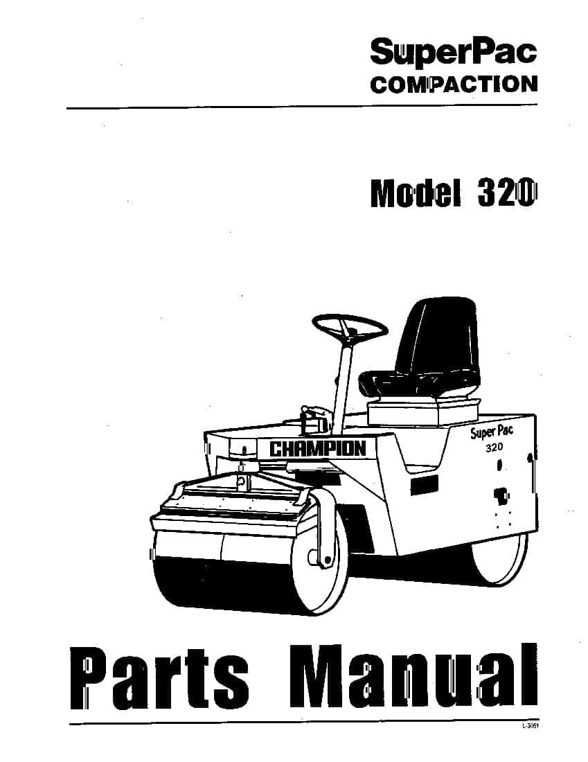 SUPERPAC COMPACTION 320 pn L-3051 Parts Manual PDF