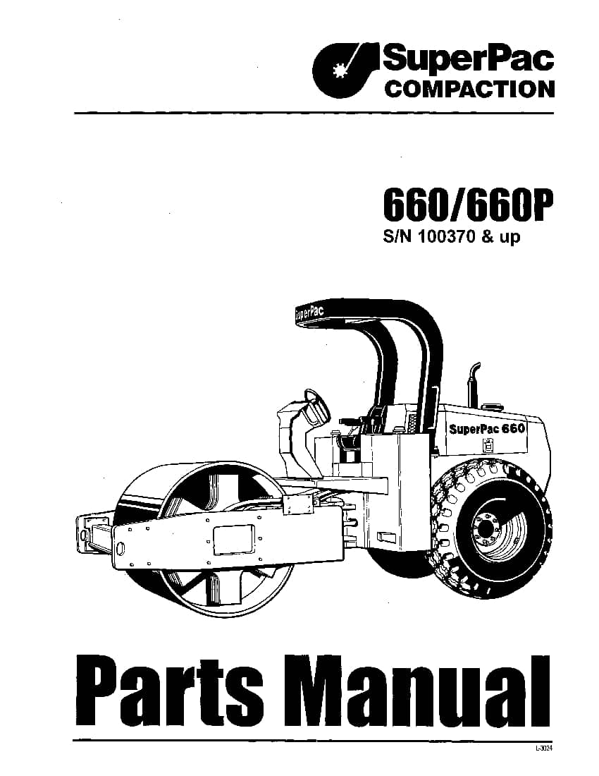 SUPERPAC COMPACTION 660 660P PN L-3024 Parts Manual PDF