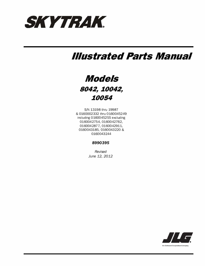 SkyTrak 10054 Telehandler Parts Manual PDF Download