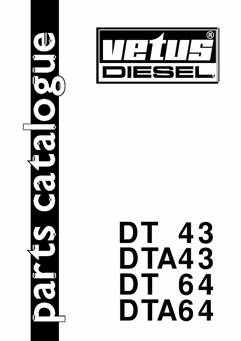 VETUS DT 43 DTA43 DT 64 DTA64 VETUS DIESEL Parts Manual