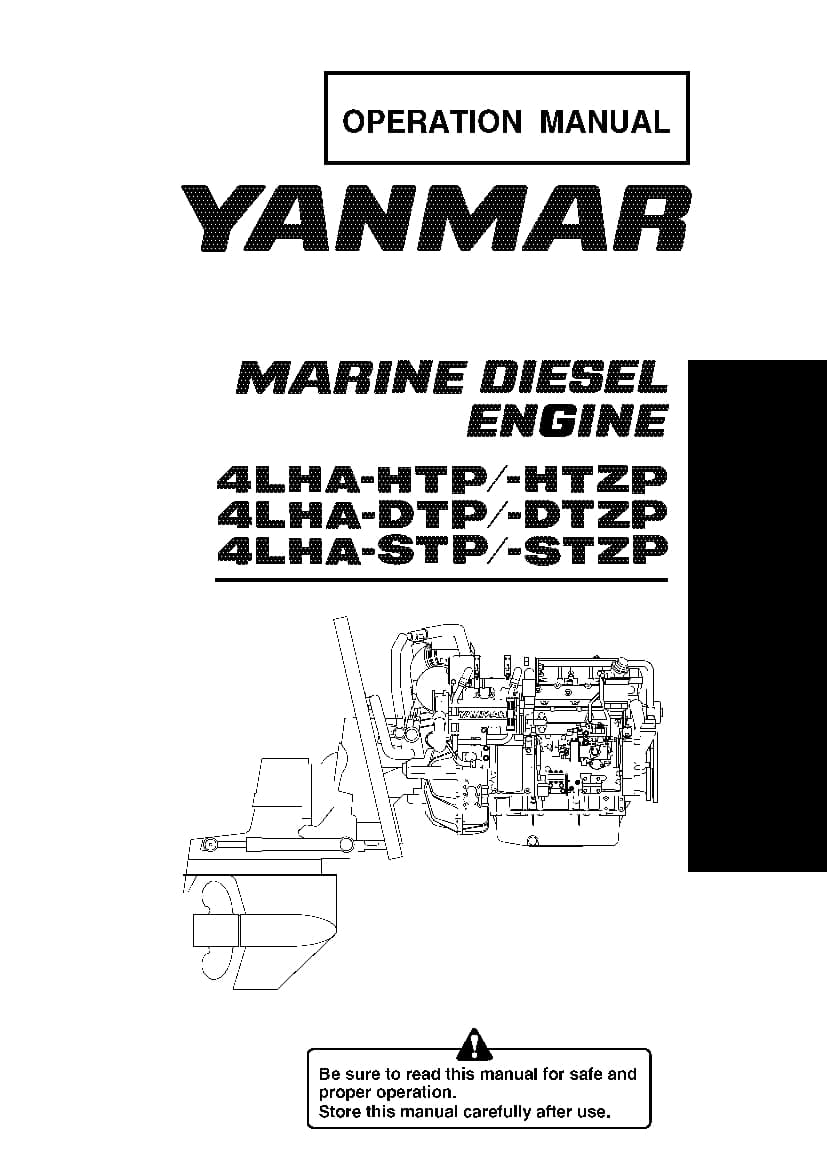 Yanmar 4LHA-HTP DTP STP Marine Diesel Engine Operation and