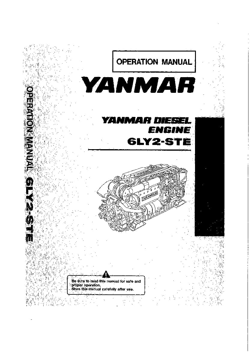 Yanmar 6LY2-STE Marine Diesel Engine Operation and