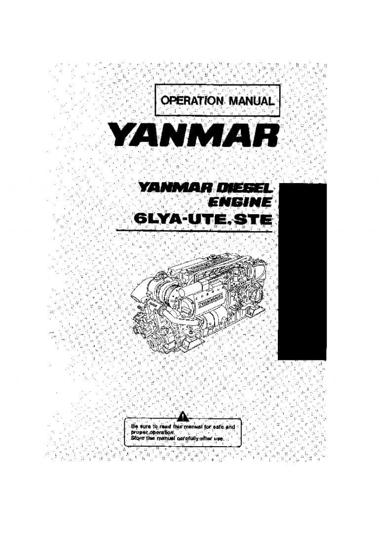 Yanmar 6LYA-UTE STE Marine Diesel Engine Operation and