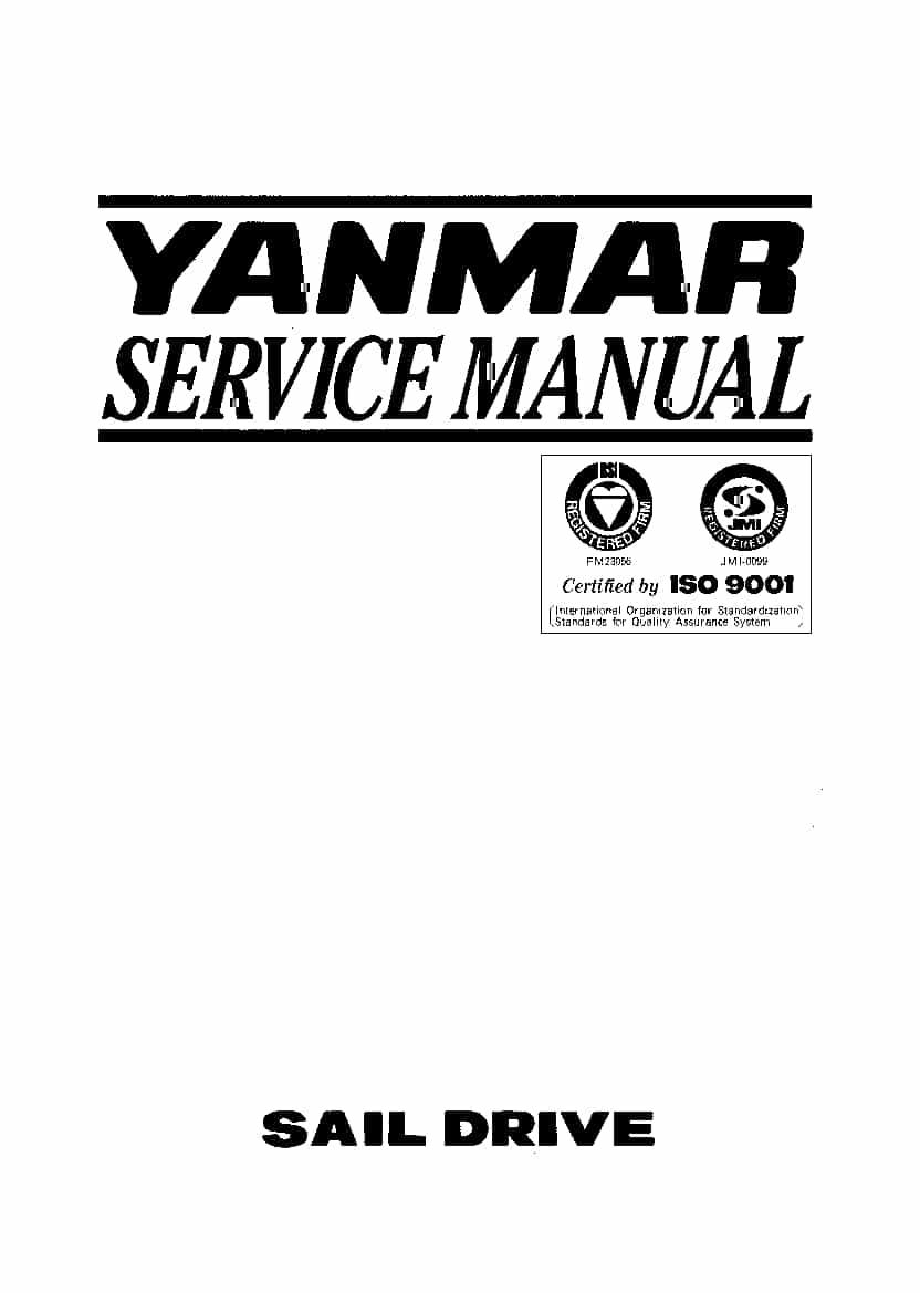 Yanmar SD20 SD30 SD31 Sail Drive Workshop Repair Service