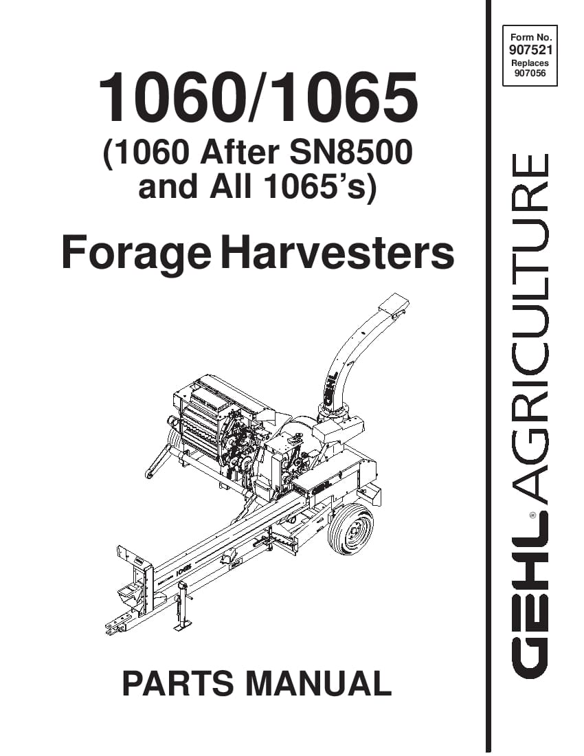 Silo-Kombajn Gehl 1060-1065 Parts Manual PDF Download