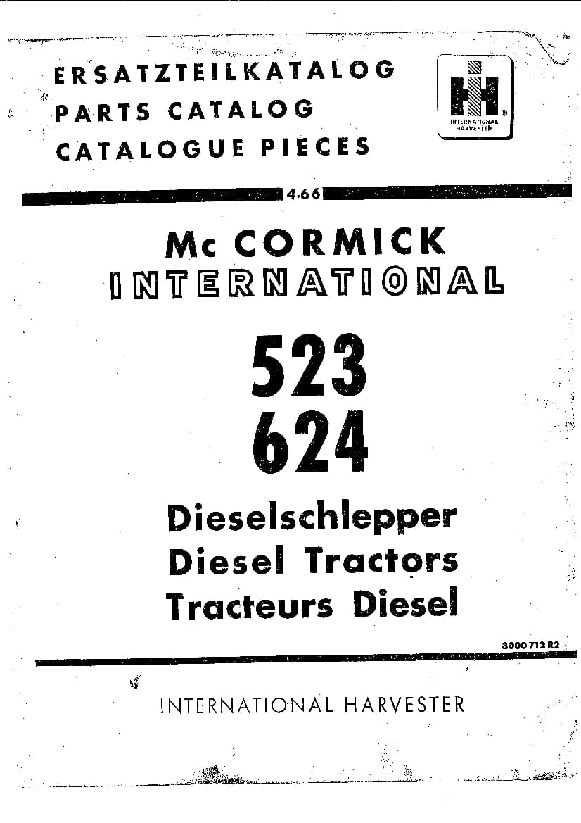 Tractor Mccormick Ih 523-624 Parts Manual PDF Download