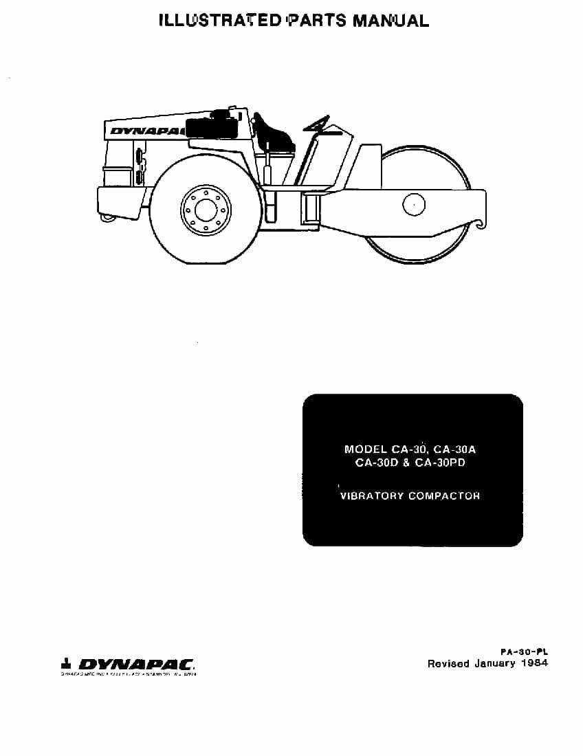 Dynapac CA 30,A,D,PD PA-30-PL Parts Manual PDF Download
