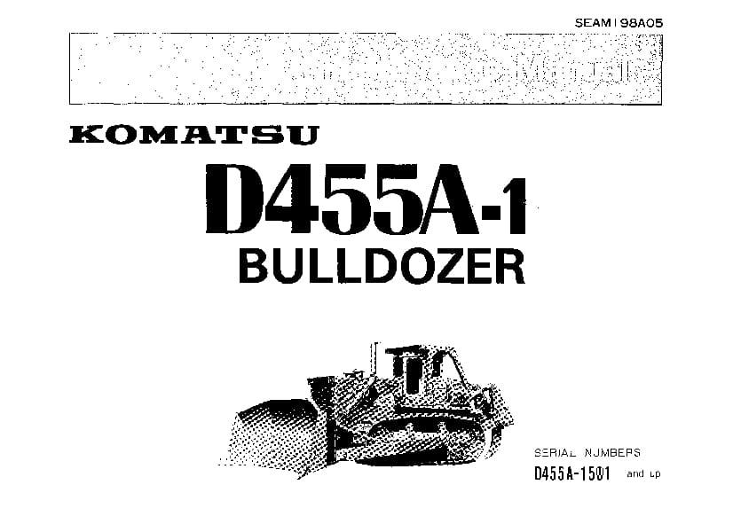 Komatsu D455A-1 Bulldozer Operation and Maintenance Manual