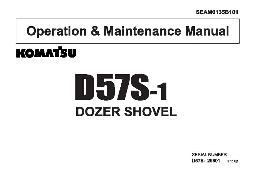 Komatsu D57S-1 Bulldozer Operation and Maintenance Manual