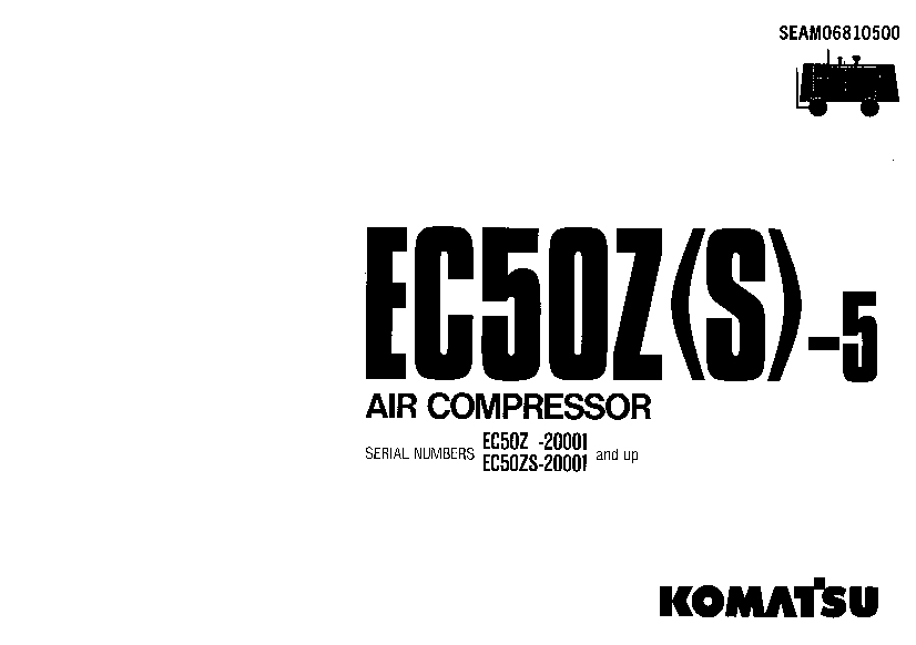 Komatsu EC50Z-5 EC50S-5 Air compressor Operation and