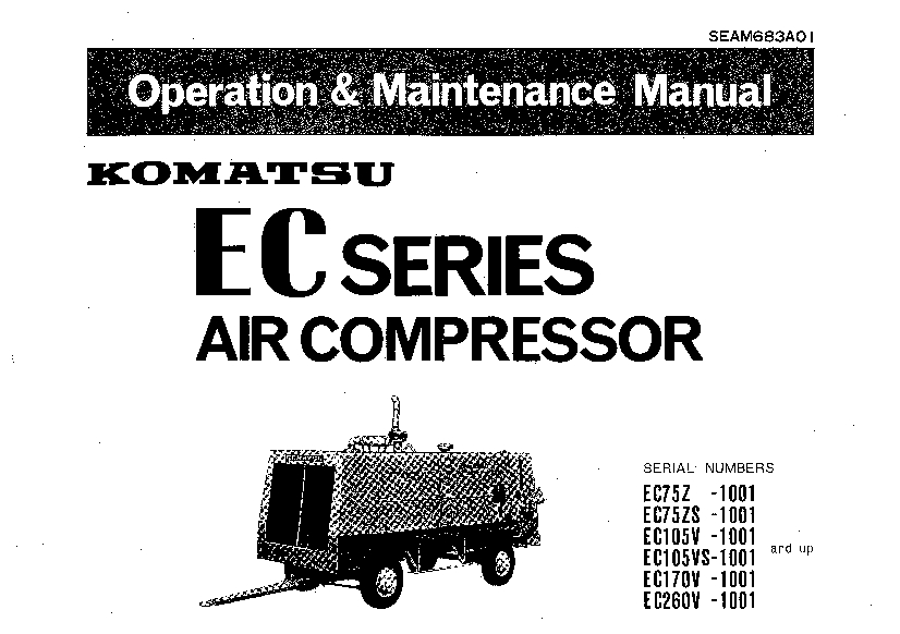 Komatsu EC75 105 170 260 Air compressor Operation and