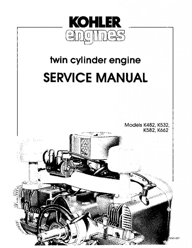 Kohler K482 K532 K582 K662 Engines Workshop Repair Service