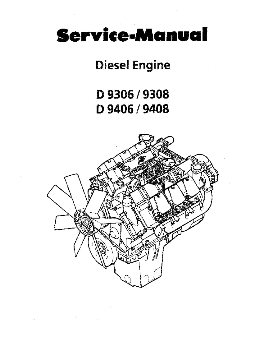 Liebherr D9306 D9308 D9406 D9408 Diesel Engine Workshop