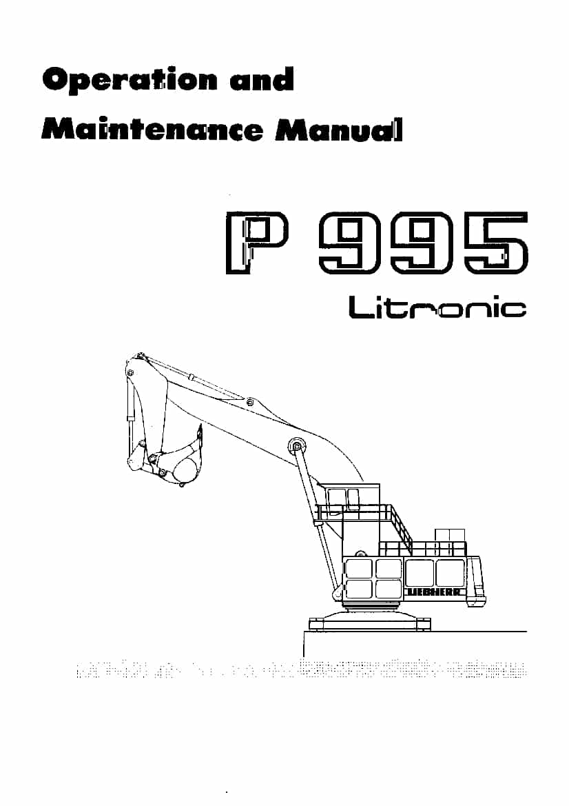 Liebherr P995 101 Diesel engine Operating manual PDF