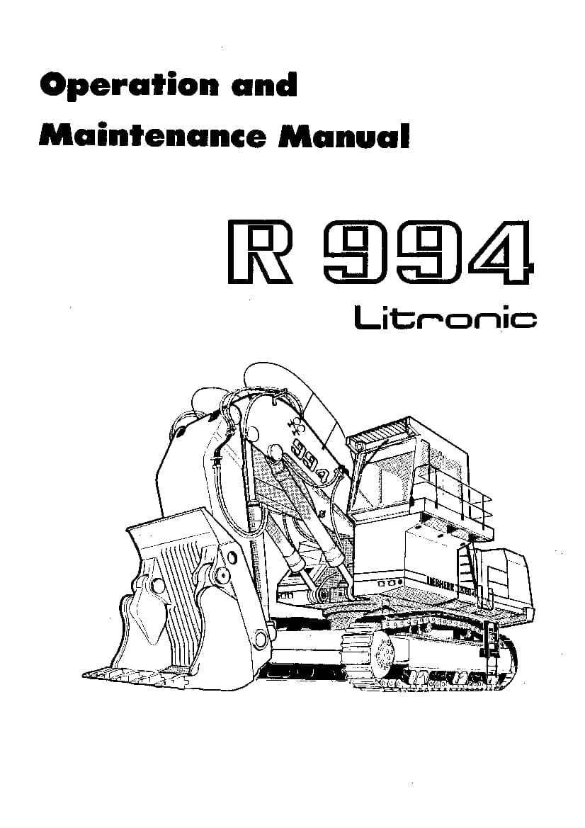 Liebherr R994 14003 Diesel engine Operating manual PDF