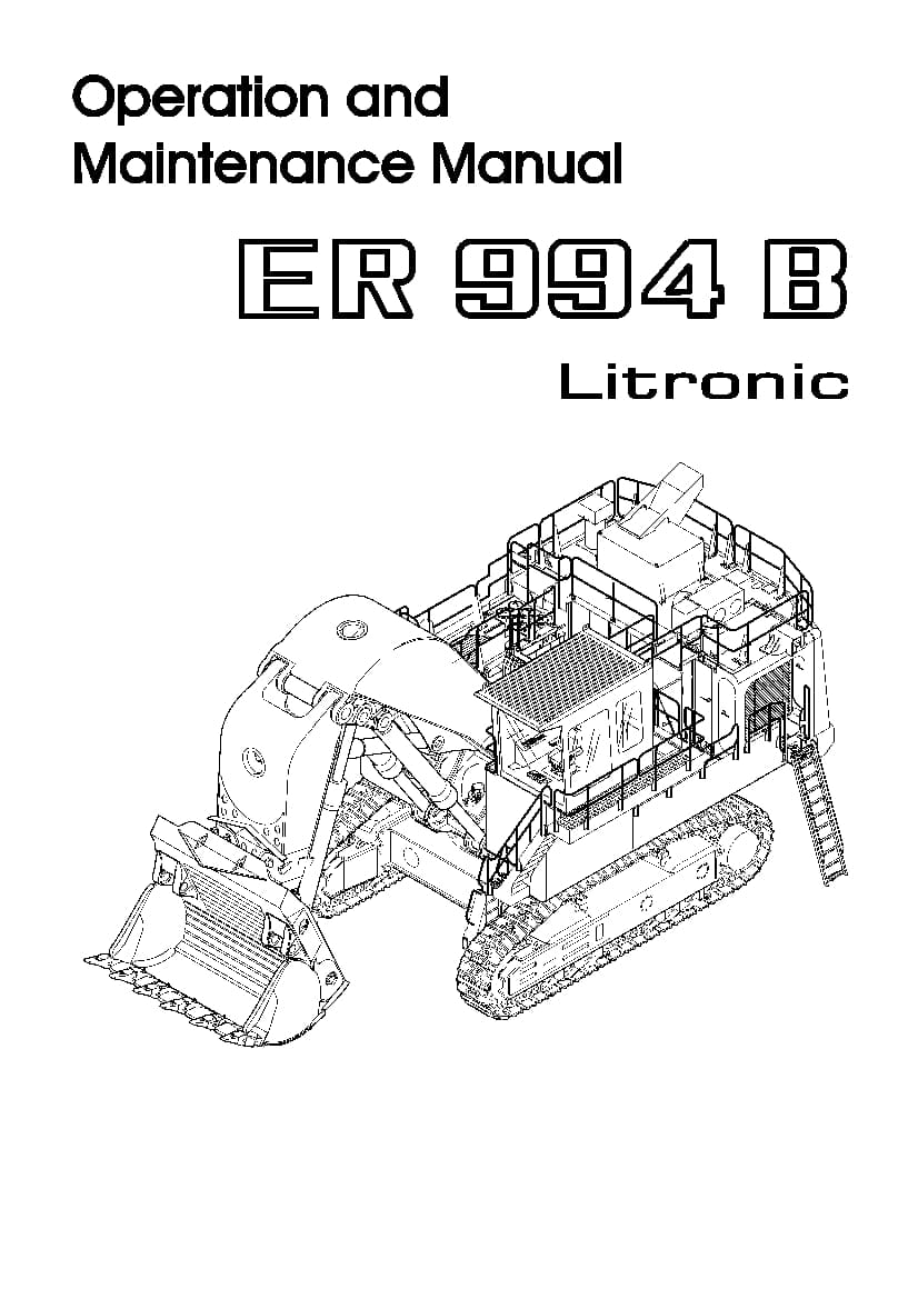 Liebherr R994BE 771 12947 Diesel engine Operating manual