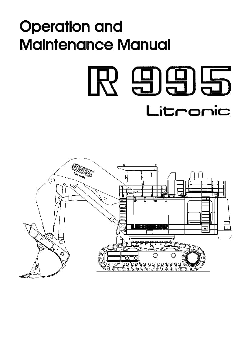 Liebherr R995 593 101 Diesel engine Operating manual PDF