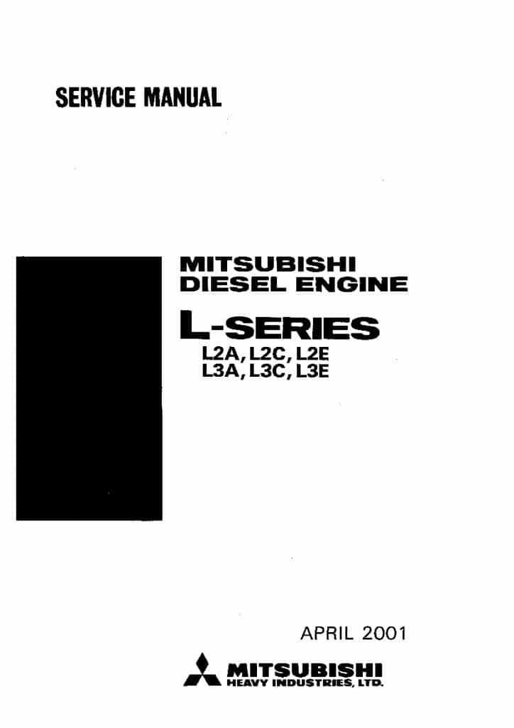 Mitsubishi L2A L2C L2E L3A L3C L3E Diesel engine Workshop