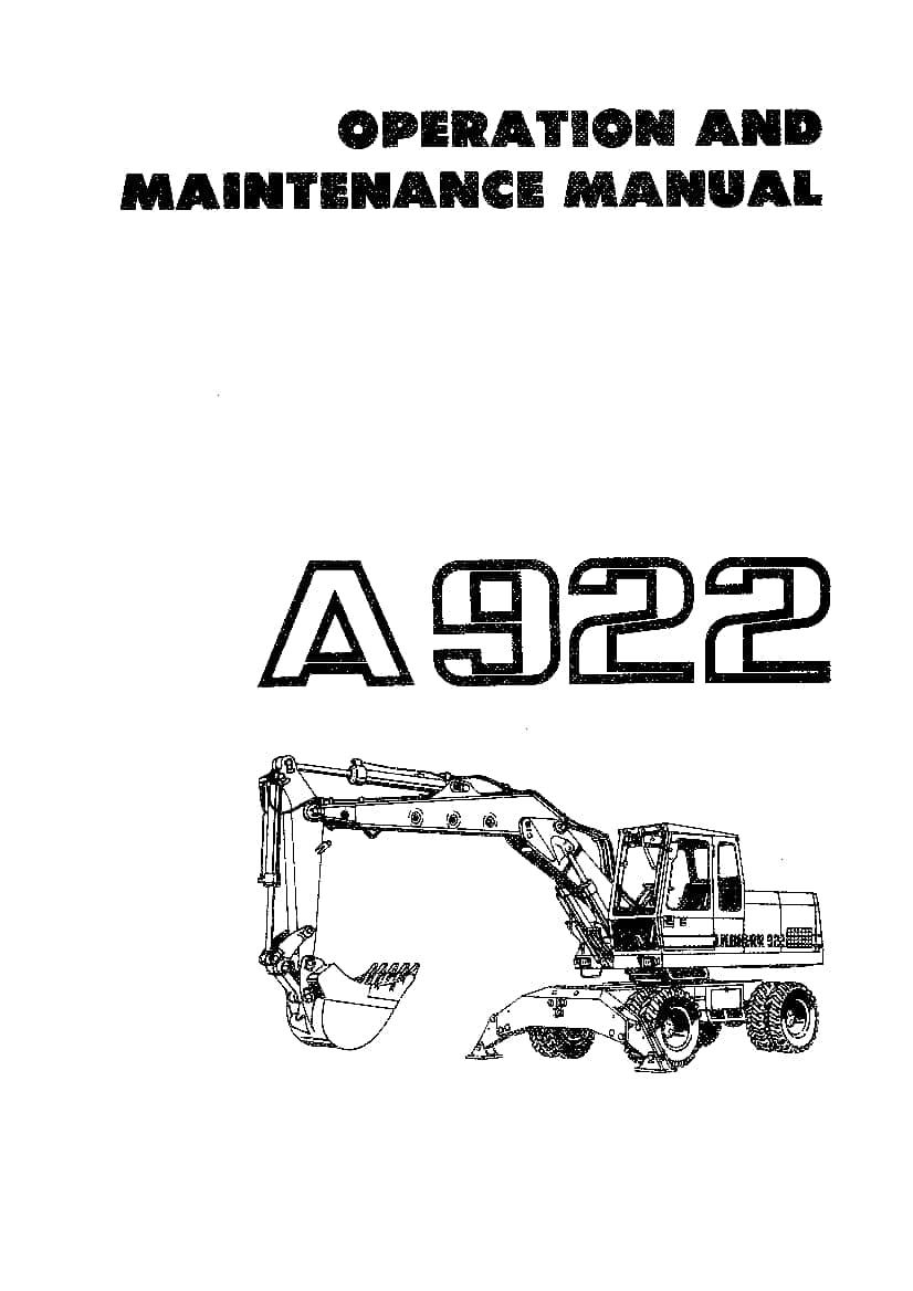 Liebherr A922 Operation and Maintenance Manual PDF