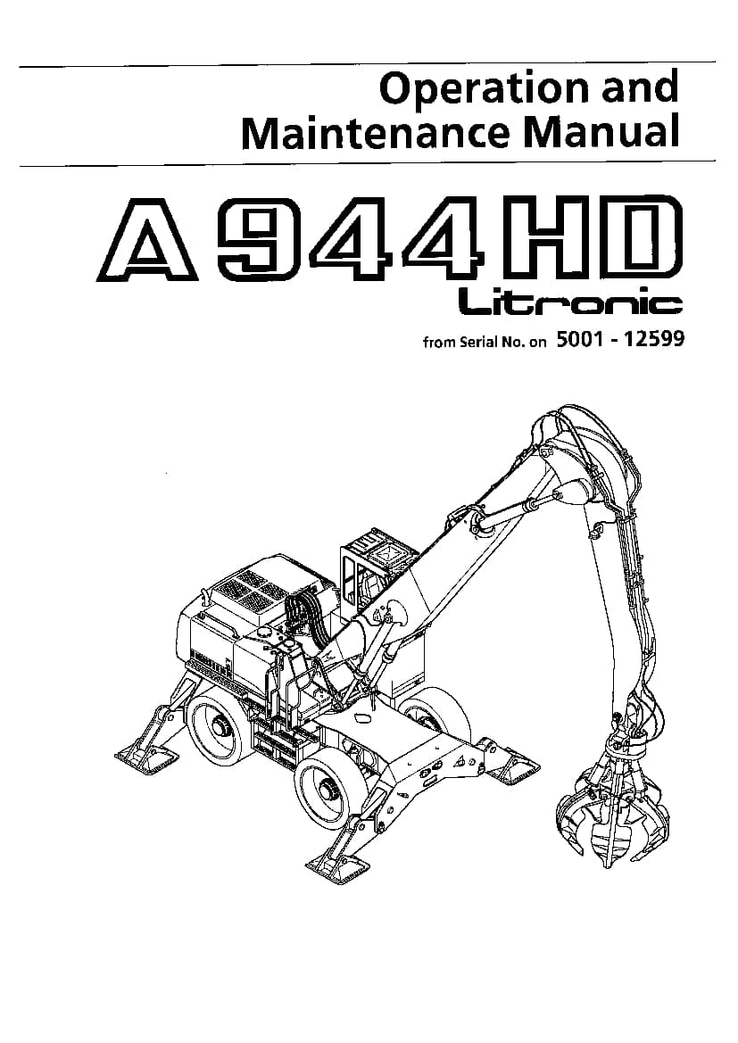 Liebherr A944 Operation and Maintenance Manual PDF